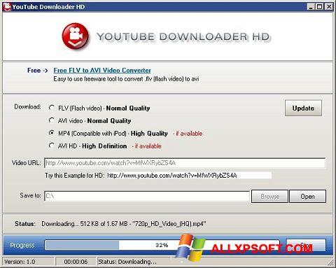 لقطة شاشة Youtube Downloader HD لنظام التشغيل Windows XP